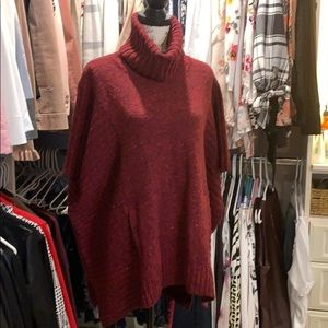 Athleta poncho sweater